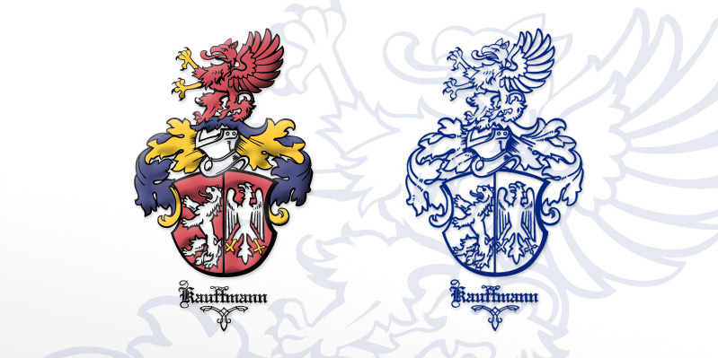 Familie Kauffmann · Illustration des Wappen-Illustration